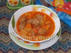 Суп с фрикадельками по-турецки