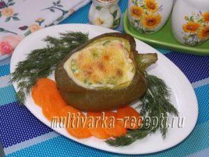 Омлет в болгарском перце