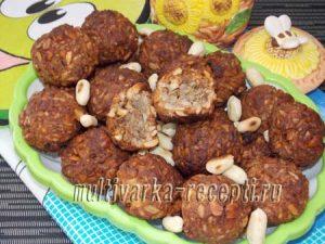 Постное печенье из овсяных хлопьев с семечками и орехами