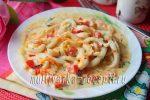 Кальмары с овощами в сливочном соусе в мультиварке