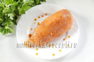 Картофельные блинчики с куриной грудкой, помидорами и сыром
