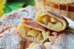 Пирожки с яблоками из творожного теста