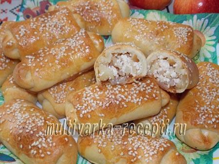 Печеные пирожки из пресного теста