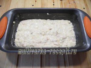 Сырный кекс с курицей в духовке