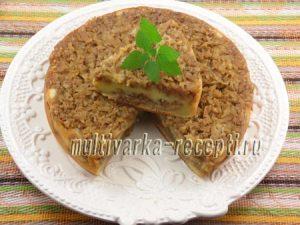 Творожный пирог с яблоками в мультиварке рецепт