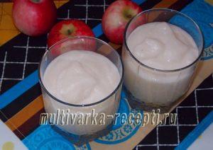 Яблочный мусс (рецепт с манкой)