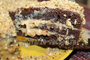 Черемуховый торт в мультиварке