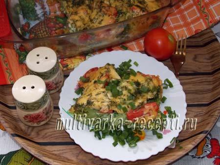 Запеканка из брокколи с помидорами и сыром