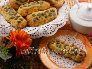 Творожное печенье с тыквой