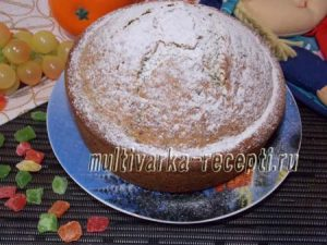 Ванильный кекс с маком в духовке
