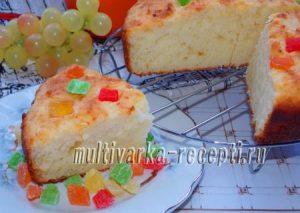 Творожный кекс с кокосовой стружкой в духовке
