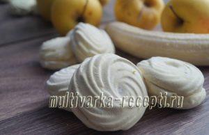 Банановый зефир на агар-агаре