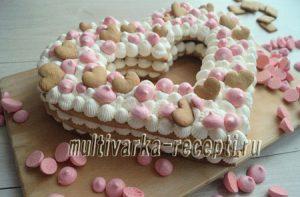 Торт Цифра-Буква-Сердце
