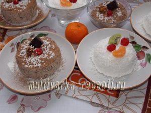 Десерт из взбитых сливок (2 варианта)