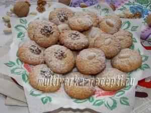 Ореховое печенье на желтках рецепт