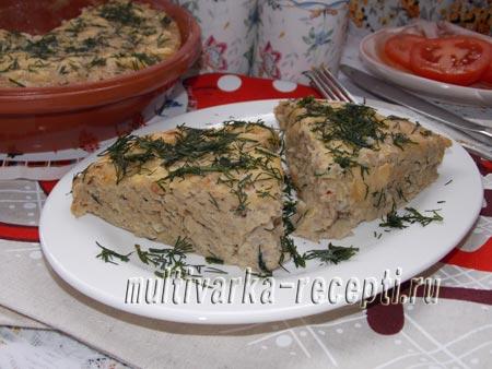 Суфле из отварного мяса с гречкой в духовке