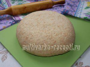 Дрожжевое тесто из цельнозерновой муки