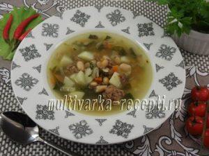 Суп с тушенкой и фасолью рецепт
