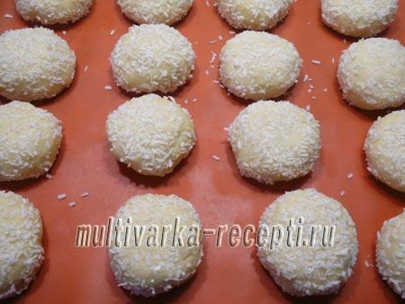 рецепт творожно-кокосовое печенье