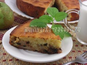 Грушевый пирог с шоколадными каплями