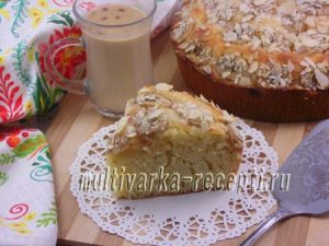 Пирог на кефире с бананами в духовке