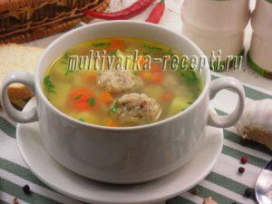 Суп с гречневыми клецками в мультиварке