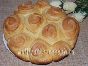 Сахарные булочки на кефире и воде