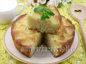 Кокосовый пирог с ананасами в духовке