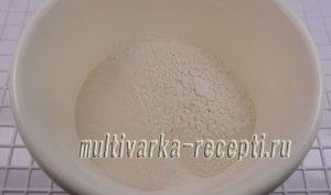 Песочный пирог с маково-творожной начинкой в духовке
