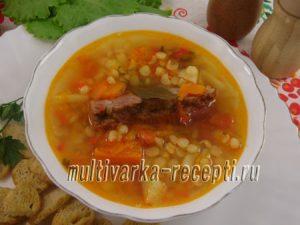Гороховый суп с тыквой в мультиварке