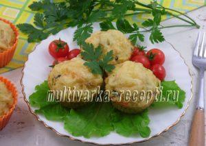 Закусочные кексы из курицы с кускусом в духовке