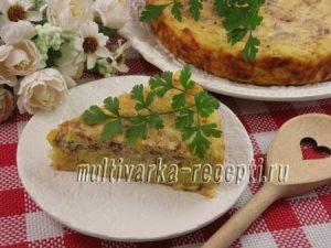 Картофельный пирог с тунцом в духовке