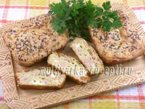 Кабачковые кексы с ветчиной и сыром