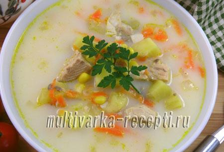Рыбный суп из консервы горбуши в мультиварке