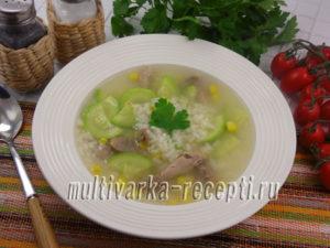 Суп из индейки с рисом в мультиварке