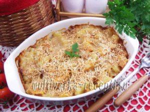 Тыквенно-картофельная запеканка с беконом в духовке
